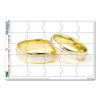 Wedding Rings - Love Romance MAG-NEATO'S TM Puzzle Magnet