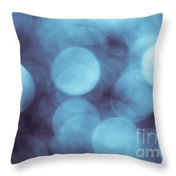 "Lavender Blue Bokeh Throw Pillow for Sale by Jan Bickerton - 14"" x 14"""