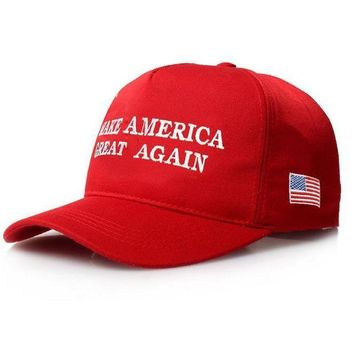 DCCKIJG Make America Great Again Letter Print Donald Trump Hat 2016 Republican Snapback Baseba