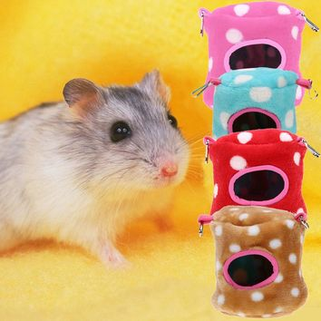 Small Warm Animal Pet Hamster Cushion Cute Soft Rat Basket Fashionable House Pet Squirrel Fox Hamster Bed