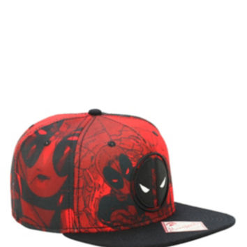 Marvel Deadpool Red Tonal Snapback Hat