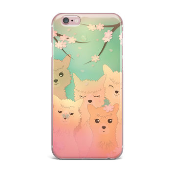 "Graphic Tabby ""Spring Alpacas"" Pastel Animals iPhone Case"