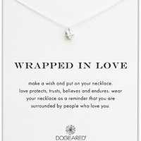 "Dogeared ""Wrapped In Love"" Wrapped Heart Necklace, Sterling Silver 16"""