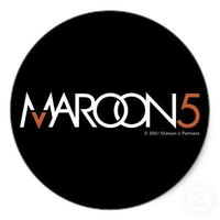 Maroon 5 Logo on Black Sticker from Zazzle.com