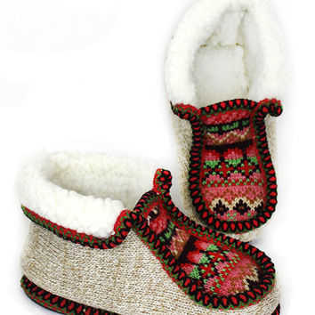 Kids Nordic Cozy Knit Slippers