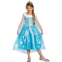 Girls Elsa Costume Deluxe - Frozen