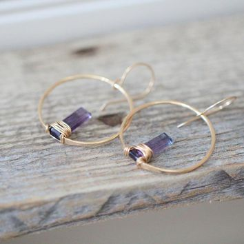 Sunrise Earrings - Fluorite