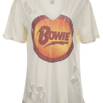 DAVID BOWIE Distressed Band Tee by Recycled Karma