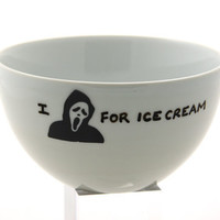 I Scream For Ice Cream Bowl by LennyMud on Etsy