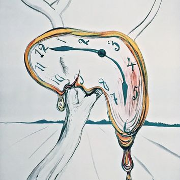 Tearful Soft Watch, Limited Edition Offset Lithograph, Salvador Dali