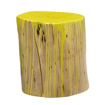 Stump Stool Lime Yellow