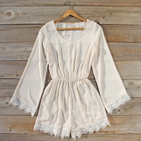 Wintertide Lace Romper in Cream