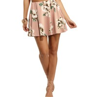 Dusty Rose Make 'Em Blush Skater Skirt