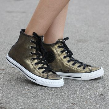 Converse Fashion Sneakers Sport Shoes Gold Black