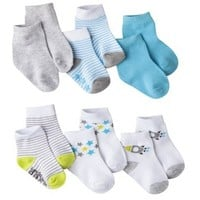 Just One You™Made by Carter's® Newborn Newborn Boys' 6 Pack Assorted Crew Socks - 3-12 M