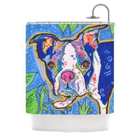 "Rebecca Fischer ""Addy Mae"" Pug Terrier Shower Curtain"