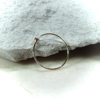 Super Thin Gold Ball Nose Ring