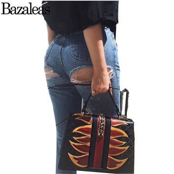 Bazaleas 2017 Women Push Up Jeans Stretch High Waist Trousers Sexy Hip Hole Pants Slim Hole Row Buttons Ripped Jeans For Women
