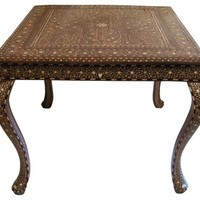 Square Inlaid Table