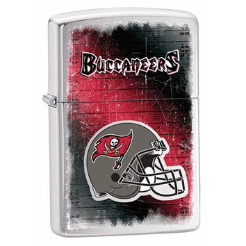 Zippo Tampa Bay Buccaneers Brushed Chrome Lighter