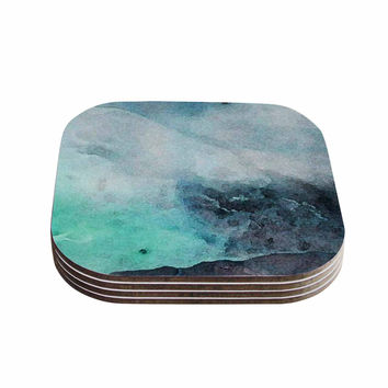 "Iris Lehnhardt ""Abstract Color"" Pastel Painting Coasters (Set of 4)"