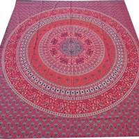 Elephant Mandala Hippie Hippy Wall Hanging Indian Tapestry Throw Bedspread Bed Decor Sheet Ethnic Decorative Art