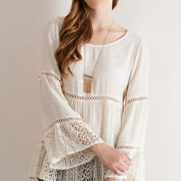 Shirley Crochet Boho Top