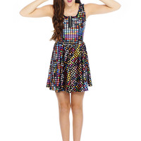 Girls Emoji Zip Skater Dress