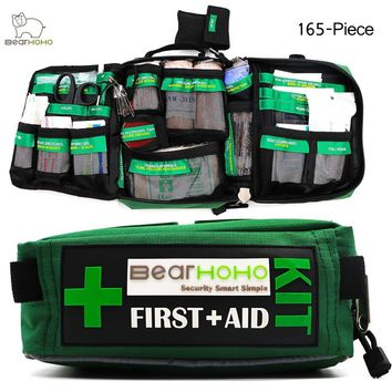 BearHoHo Handy Survival First Aid Kit Medical Bag For Home Outdoor Emergency Kit Travel Sports Caravan Camping Hiking Car Workpl