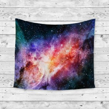 """Rainbow Galaxy"" Endless Galaxy Wall Tapestry"