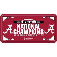Alabama 2015 National Championships Metal License Plate | Alabama National Champions Auto Tag | Alabama Crimson Tide National Champions Auto Plate