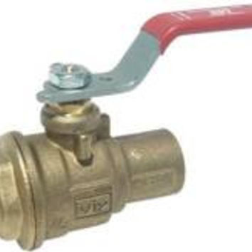 Rwv Brass Ball Valve With Solder Ends, 1-1/4 In., Lead Free