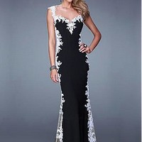 Buy discount Chic Tulle & Stretch Satin Sweetheart Neckline Floor-length Sheath Prom Dress at Dressilyme.com