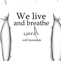 We Live and Breathe Words Women's T-Shirt