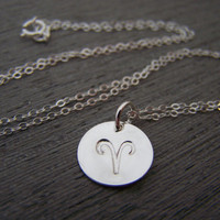 Astrology Necklace - Zodiac Sign Symbol Sterling Silver Necklace - Choose Your Sign - Zodiac Necklace / Gift for Her