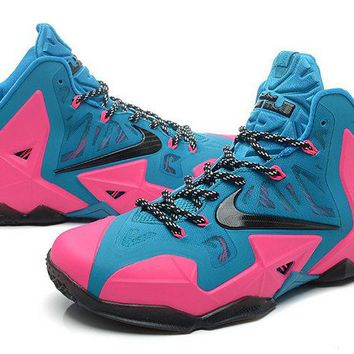 2018 New LeBron 11 ID Turquoise Pink Flash Black Brand sneaker