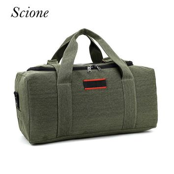 Vintage Men Luggage Duffel Bags Canvas Business Travel bags Large Capacity Women Shoulder Bags Strap Voyage Shopping Tote 120198