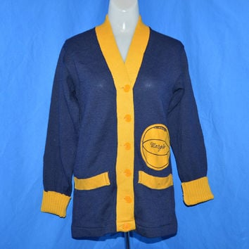 40s Womens Letterman Cardigan Sweater Medium