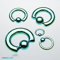 Colorline PVD Steel Captive Bead Ring