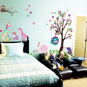 Nursery room Wall Decal -Kid Trees Wall Vinyl- Children Vinyl Sticker
