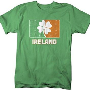 Shirts By Sarah Men's Ireland St. Patrick's Day Clover Distressed T-Shirt