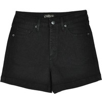 Courtshop Hi Waist Black Shorts