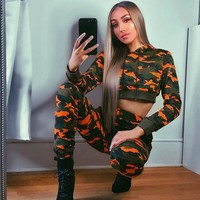 Pants Set Summer Hot Sale Camouflage Print Slim Hats Hoodies [199507509263]
