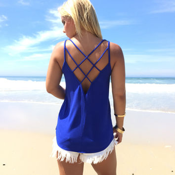 In This Skin Tank In Royal Blue