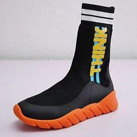 ONETOW Fendi Sock Runner Sneakers high-knit trend running shoes