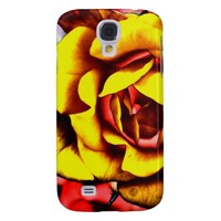 Colorful Artistic Yellow Rose Samsung Galaxy S4 Cover