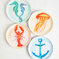 Sea My Guest Plate Set | Mod Retro Vintage Kitchen | ModCloth.com