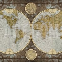 World Map Art Print by Elizabeth Medley at Art.com
