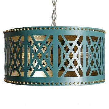 Taylor Burke Home Don't Fret Chandelier - Turquoise | New Lighting | What's New! | Candelabra, Inc.