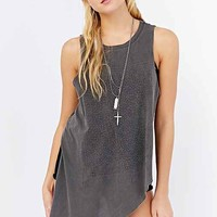 Project Social T High/Low Muscle Tee- Washed Black